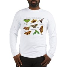 Moths of North America Long Sleeve T-Shirt