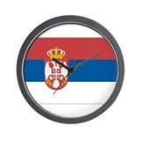 Flag of Serbia Wall Clock