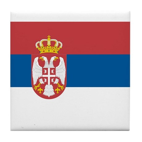 Flag of Serbia Tile Coaster