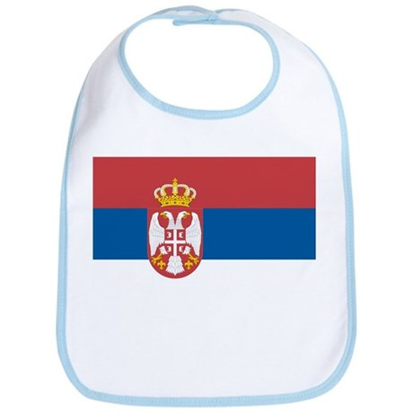 Flag of Serbia Bib