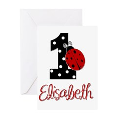 1 Ladybug ELISABETH - Custom Greeting Cards