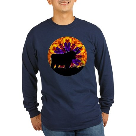 Texas Longhorn Long Sleeve Dark T-Shirt