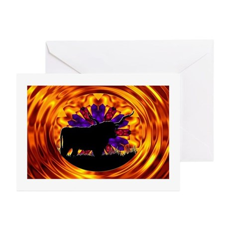 Texas Longhorn Greeting Cards (Pk of 10)