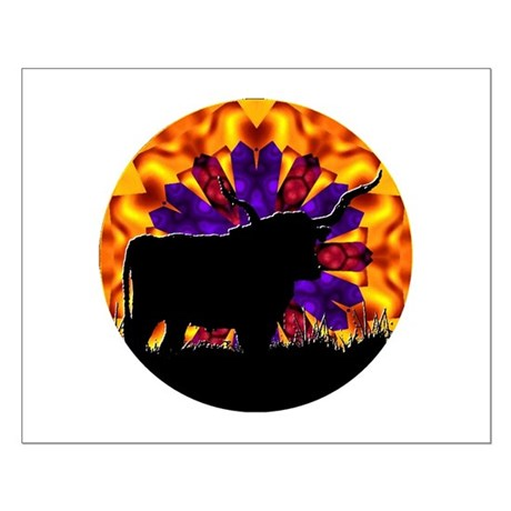Texas Longhorn Small Poster