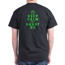 Keep Calm and Haunt On - Grey T-Shirt