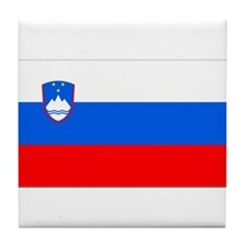 Flag of Slovenia Tile Coaster