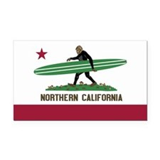 Northern California Bigfoot Rectangle Car Magnet