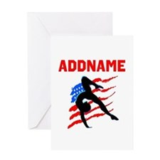 USA #1 GYMNAST Greeting Card
