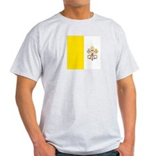 Vatican City Flag Ash Grey T-Shirt