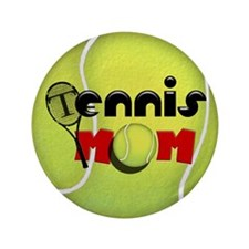 "Tennis Mom 3.5"" Button"