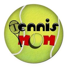 Tennis Mom Round Car Magnet