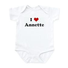 I Love Annette Infant Bodysuit