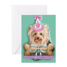 ByCatiaCho Yorkie LuLoo Greeting Card