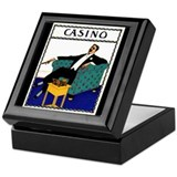 Casino Cigar Art Keepsake Box