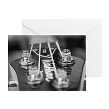 Washburn Bass Guitar black and white Greeting Card