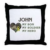 John: My Hero Throw Pillow