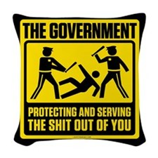Protecting And Seving Woven Throw Pillow