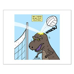 T-Rex Volleyball Posters