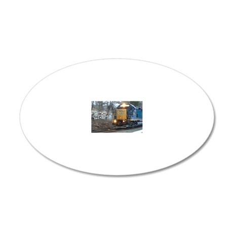 Railfan Nation Picture 20x12 Oval Wall Decal