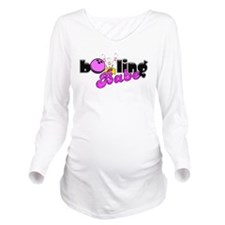 Bowling Babe Long Sleeve Maternity T-Shirt