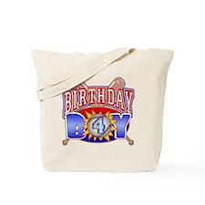 Baseball 4th Birthday Tote Bag