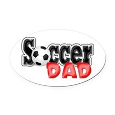 Soccer Dad Oval Car Magnet