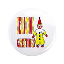 "Clown Greetings 3.5"" Button (100 pack)"