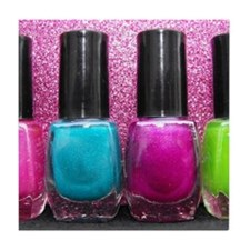 Bright Nail Polish Tile Coaster