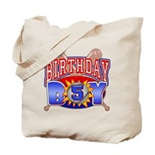 Baseball 5th Birthday Tote Bag