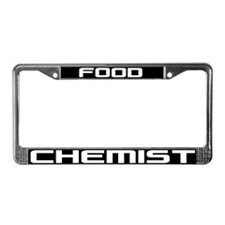 Food Chemist License Plate Frame