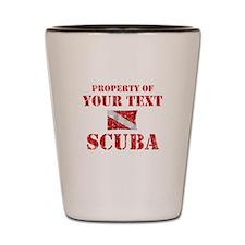 Personalized Scuba Shot Glass