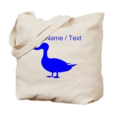 Custom Blue Duck Silhouette Tote Bag