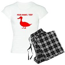 Custom Red Duck Silhouette pajamas