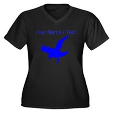 Custom Blue Eagle Silhouette Plus Size T-Shirt
