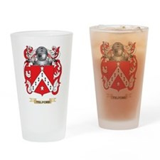 Telford Family Crest (Coat of Arms) Drinking Glass