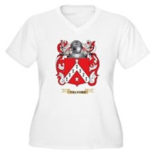 Telford Family Crest (Coat of Arms) Plus Size T-Sh