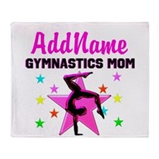 GREAT GYMNAST MOM Throw Blanket