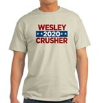 Trek Wesley Crusher 2016 T-Shirt - This funny election design is for fans of Star Trek The Next Generation's infamous acting ensign. Vote Wesley Crusher in 2016! - Availble Sizes:Small,Medium,Large,X-Large,2X-Large (+$3.00),3X-Large (+$3.00) - Availble Colors: Natural,Ash Grey,Light Blue