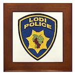 Lodi Police Framed Tile