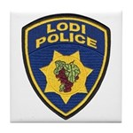 Lodi Police Tile Coaster