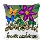 Butterflymotherinlaw.png Woven Throw Pillow