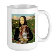 Starry Night red Aussie Mug