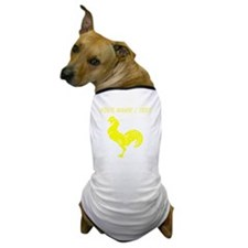 Custom Yellow Rooster Silhouette Dog T-Shirt