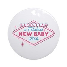 Las Vegas Expecting 2014 Ornament (Round)