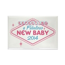 Las Vegas Expecting 2014 Rectangle Magnet