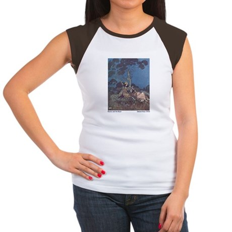Dulac's Beauty & the Beast Women's Cap Sleeve T-Sh