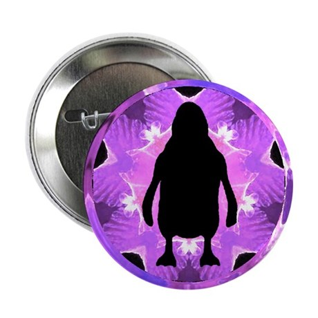 Kaleidoscope Penguin Button