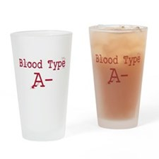 Blood Type A- Drinking Glass