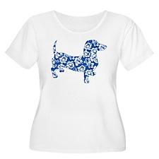 Hawaiian Dachshund Doxie Plus Size T-Shirt