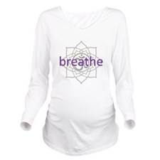 purplebreathe.png Long Sleeve Maternity T-Shirt